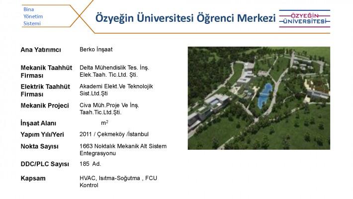 Özyeğin Üniversitesi Öğrenci Merkezi